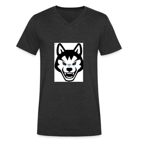 dog bravo - Camiseta ecológica hombre con cuello de pico de Stanley & Stella