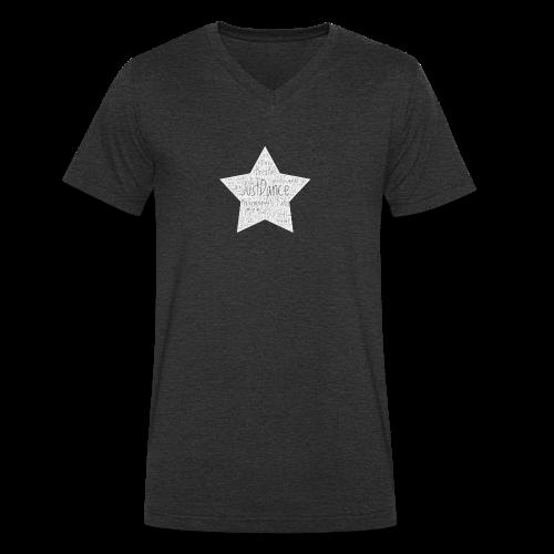 PAS Star greys bg light grey - Männer Bio-T-Shirt mit V-Ausschnitt von Stanley & Stella