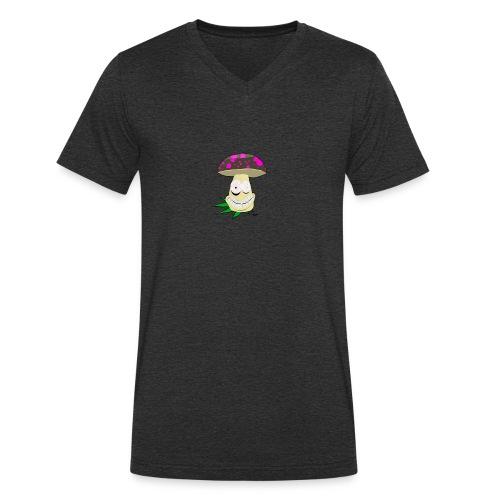 Pilz-Logo foodporn - Männer Bio-T-Shirt mit V-Ausschnitt von Stanley & Stella