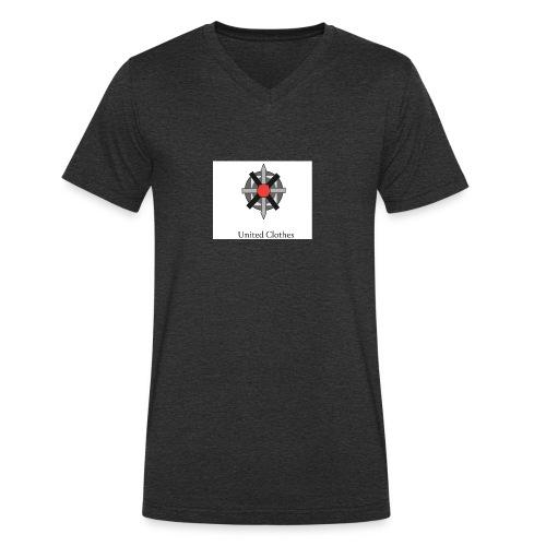 United clothes Logo - Mannen bio T-shirt met V-hals van Stanley & Stella