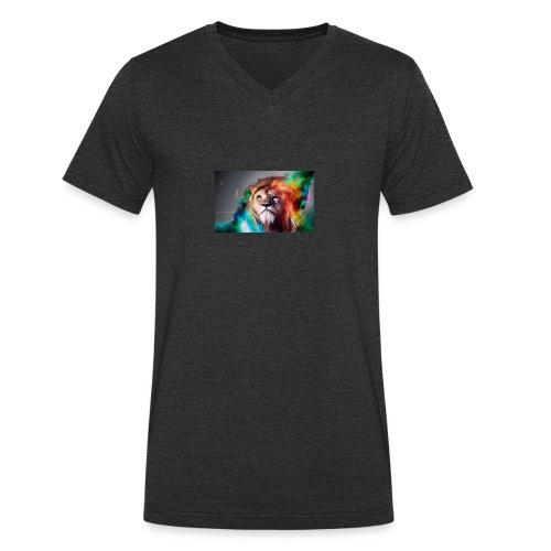 hero lion - T-shirt bio col V Stanley & Stella Homme