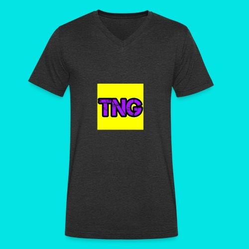 New TNG LOGO - Men's Organic V-Neck T-Shirt by Stanley & Stella