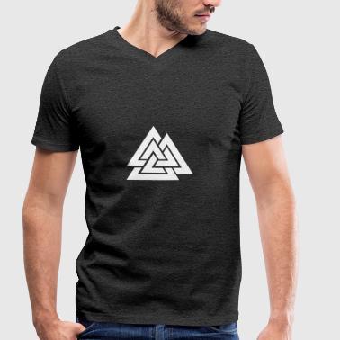Valknut Hrungner Heart - Økologisk Stanley & Stella T-shirt med V-udskæring til herrer