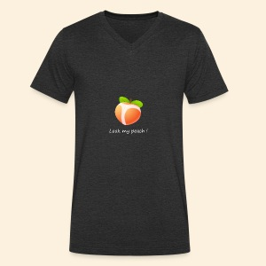 Look my peach in white - Men's Organic V-Neck T-Shirt by Stanley & Stella