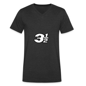 Three and a Half Logo - Men's Organic V-Neck T-Shirt by Stanley & Stella