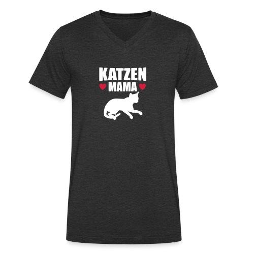 Katzen Mama - Cat Mom - Katze - Männer Bio-T-Shirt mit V-Ausschnitt von Stanley & Stella