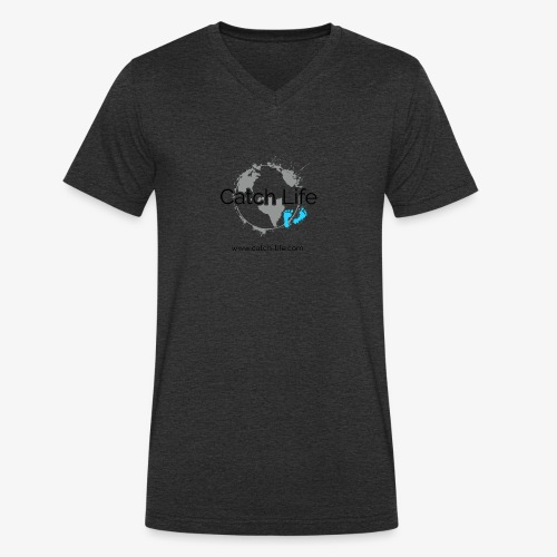 Catch Life Logo - Men's Organic V-Neck T-Shirt by Stanley & Stella