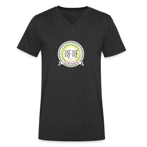 Gégé Crew Wappen - Grün - Männer Bio-T-Shirt mit V-Ausschnitt von Stanley & Stella