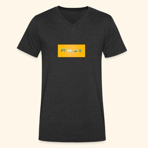 bitcoin ewolucja pieniadza - Ekologiczna koszulka męska z dekoltem w serek Stanley & Stella