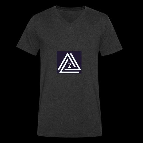 Blue Zovin Logo - Men's Organic V-Neck T-Shirt by Stanley & Stella