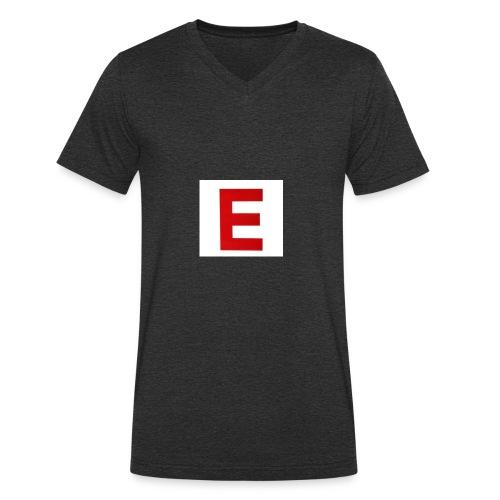 Itz Ethan Red Logo T-Shirt - Men's Organic V-Neck T-Shirt by Stanley & Stella