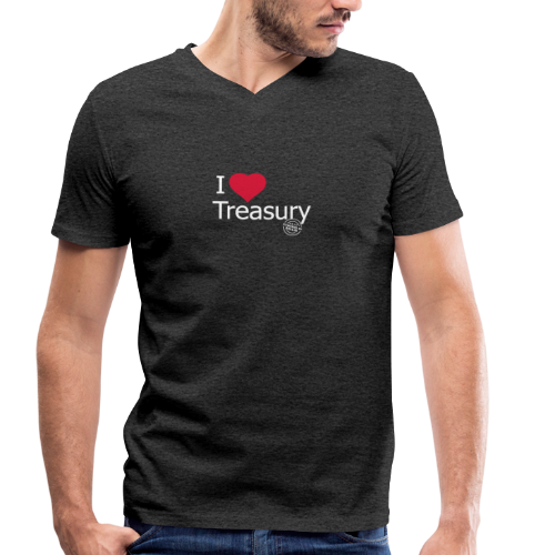 I LOVE TREASURY - Men's Organic V-Neck T-Shirt by Stanley & Stella