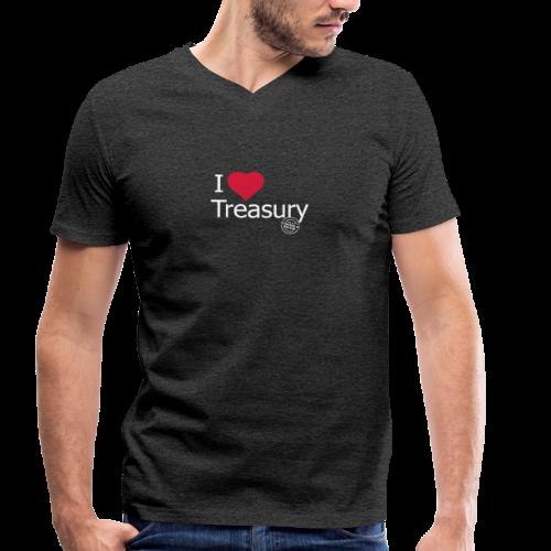 I LOVE TREASURY - Men's Organic V-Neck T-Shirt by Stanley & Stella