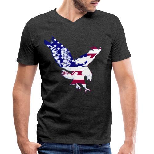 4th july flag - T-shirt ecologica da uomo con scollo a V di Stanley & Stella