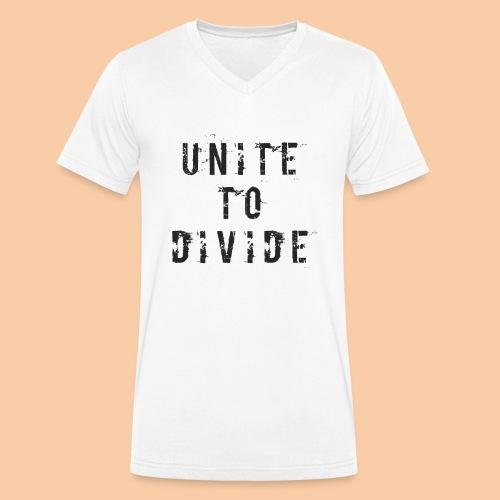 Unite to Divide by Pushactivate - Camiseta ecológica hombre con cuello de pico de Stanley & Stella