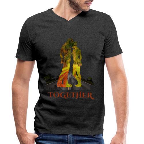 Together -by- T-shirt chic et choc - T-shirt bio col V Stanley & Stella Homme