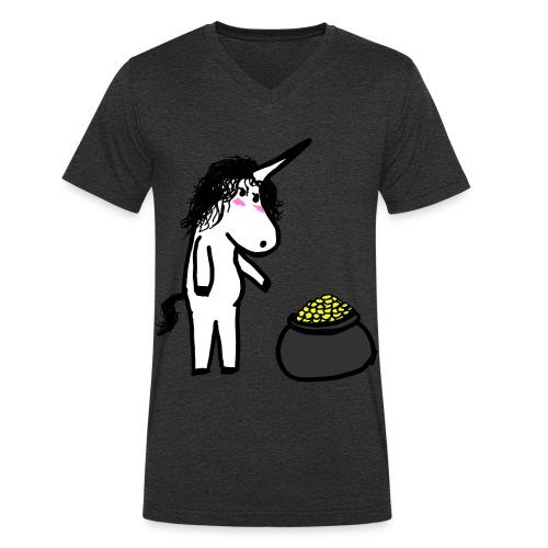 Oro unicorno - T-shirt ecologica da uomo con scollo a V di Stanley & Stella