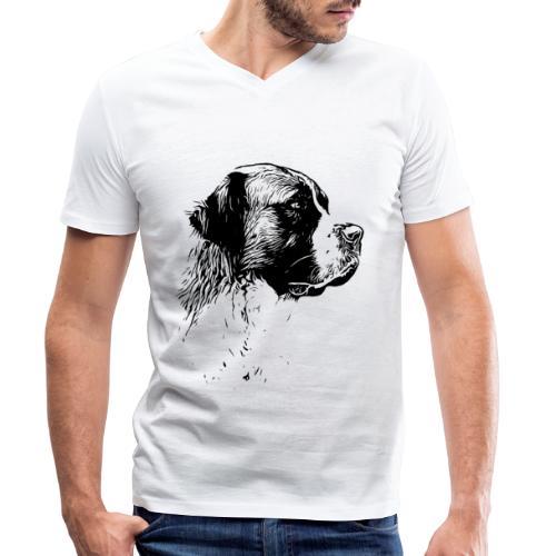 Bernhardiner Hunde Design Geschenkidee - Männer Bio-T-Shirt mit V-Ausschnitt von Stanley & Stella