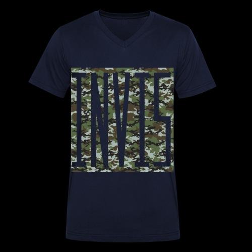 INVIS Camouflage - Männer Bio-T-Shirt mit V-Ausschnitt von Stanley & Stella