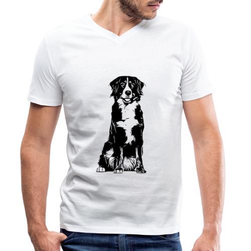 Berner Sennenhund Hunde Design Geschenkidee - Männer Bio-T-Shirt mit V-Ausschnitt von Stanley & Stella