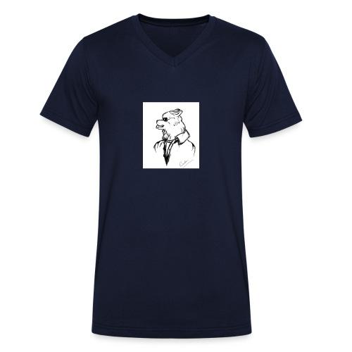 InkedThe Dog style bak LI - Camiseta ecológica hombre con cuello de pico de Stanley & Stella