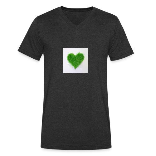 Herzrasen Button - Männer Bio-T-Shirt mit V-Ausschnitt von Stanley & Stella
