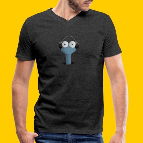 Musicworm - Ekologisk T-shirt med V-ringning herr från Stanley & Stella