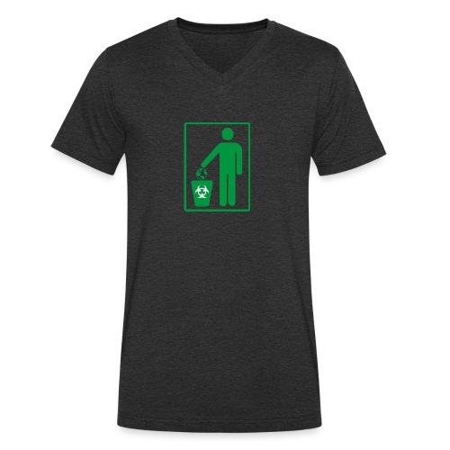 Human Trash Earth - T-shirt bio col V Stanley & Stella Homme
