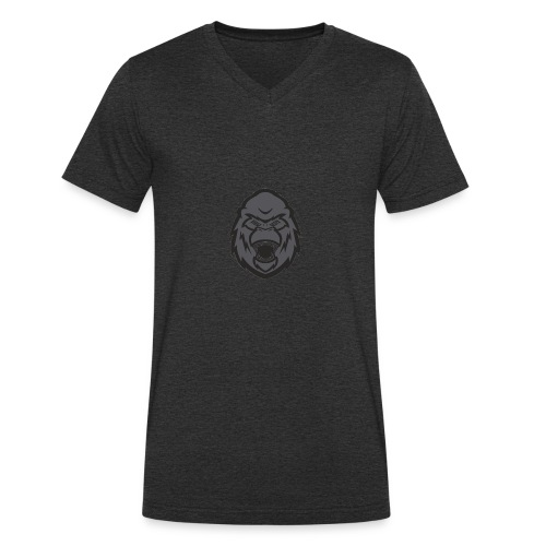 B3ast Head Logo - Økologisk T-skjorte med V-hals for menn fra Stanley & Stella