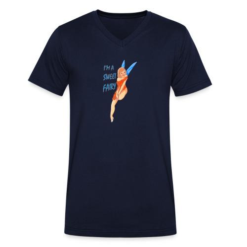 Sweet Fairy - T-shirt ecologica da uomo con scollo a V di Stanley & Stella