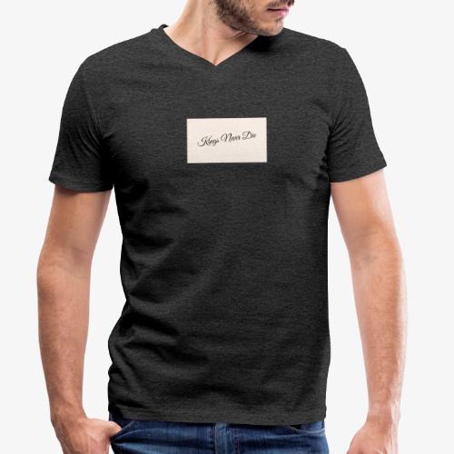Kings Never Die - Men's Organic V-Neck T-Shirt by Stanley & Stella