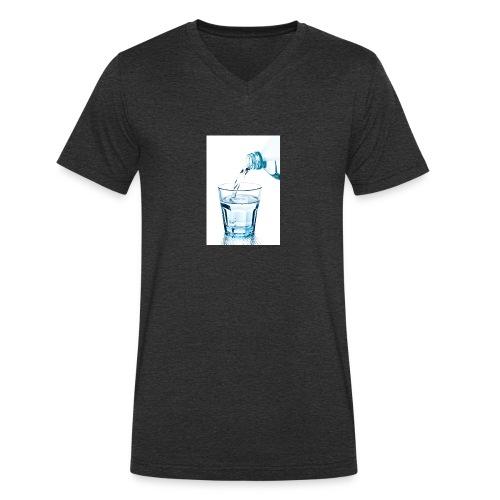 Glas-water-jpg - Mannen bio T-shirt met V-hals van Stanley & Stella