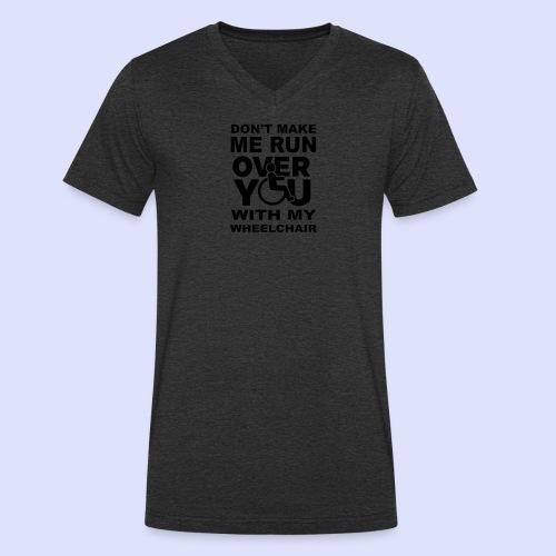 Rolstoel humor 001 - Mannen bio T-shirt met V-hals van Stanley & Stella