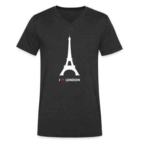 I love London - Mannen bio T-shirt met V-hals van Stanley & Stella