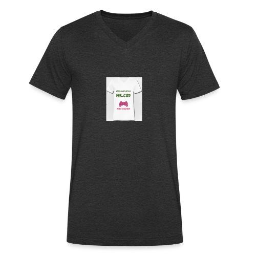 Streaming - Økologisk T-skjorte med V-hals for menn fra Stanley & Stella