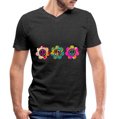 Power Flowers Of Peace Trilogy 3 - Männer Bio-T-Shirt mit V-Ausschnitt von Stanley & Stella