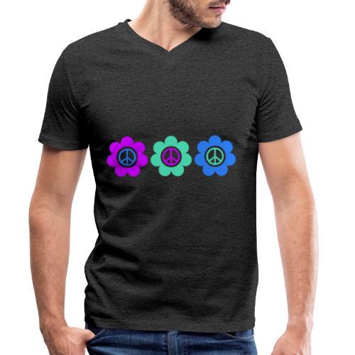 Power Flowers Of Peace Trilogy 2 - Männer Bio-T-Shirt mit V-Ausschnitt von Stanley & Stella
