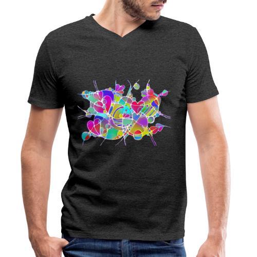 Abstrakte Kunst Neuro Art LOVE IS CRAZY 6 - Männer Bio-T-Shirt mit V-Ausschnitt von Stanley & Stella