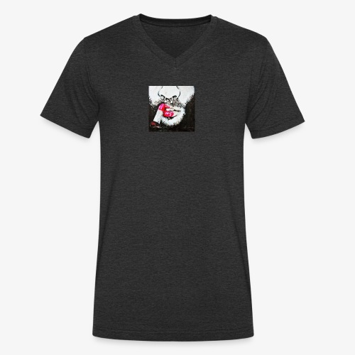 Queer revolution - Red lipstick - Men's Organic V-Neck T-Shirt by Stanley & Stella