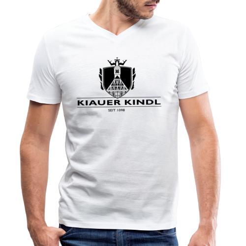 Kiauer Kindl - schwarz - Männer Bio-T-Shirt mit V-Ausschnitt von Stanley & Stella