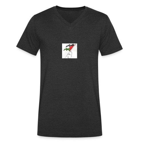 Hvid hættetrøje - Økologisk Stanley & Stella T-shirt med V-udskæring til herrer