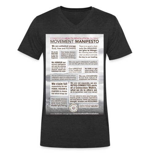 Movement Manifesto - Men's Organic V-Neck T-Shirt by Stanley & Stella