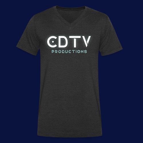 Full CDTVProductions Logo - Men's Organic V-Neck T-Shirt by Stanley & Stella
