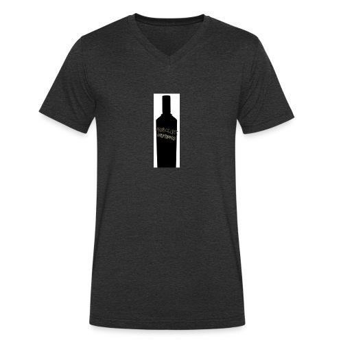 flaske forran - Økologisk T-skjorte med V-hals for menn fra Stanley & Stella