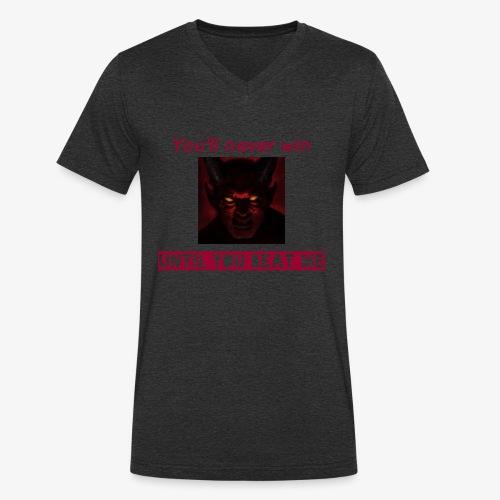 The unbeaten devil - Men's Organic V-Neck T-Shirt by Stanley & Stella