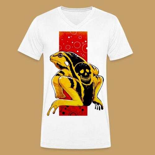Death Frog - Ekologiczna koszulka męska z dekoltem w serek Stanley & Stella