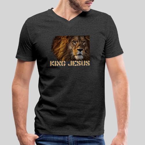 König Jesus der Löwe von Juda - Männer Bio-T-Shirt mit V-Ausschnitt von Stanley & Stella