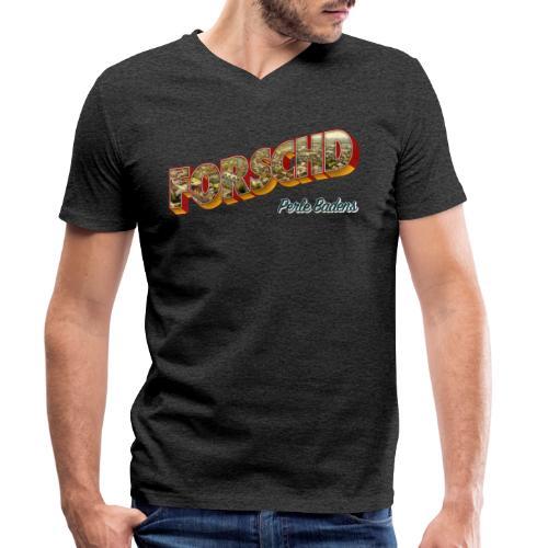 Forschd - Perle Badens - Vintage-Logo mit Luftbild - Männer Bio-T-Shirt mit V-Ausschnitt von Stanley & Stella