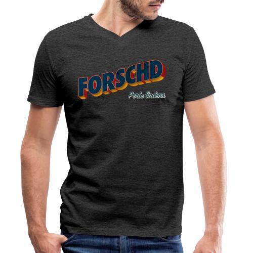Forschd - Perle Badens - Vintage Logo ohne Bild - Männer Bio-T-Shirt mit V-Ausschnitt von Stanley & Stella