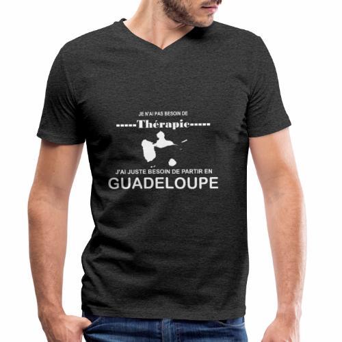 NUL BESOIN DE THERAPIE JUSTE DE LA GUADELOUPE - T-shirt bio col V Stanley & Stella Homme